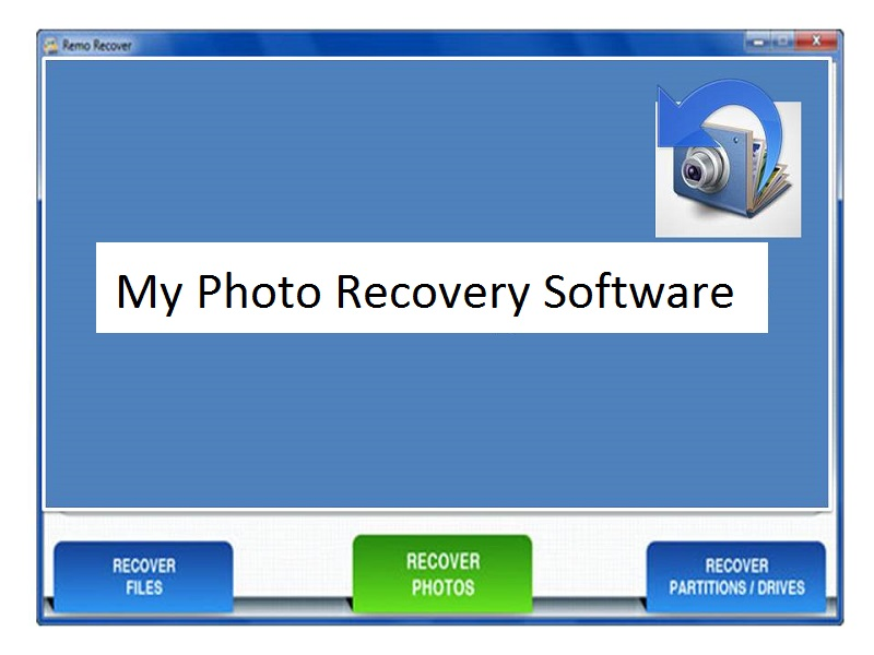 Recover My Photo to recover photos on windows
